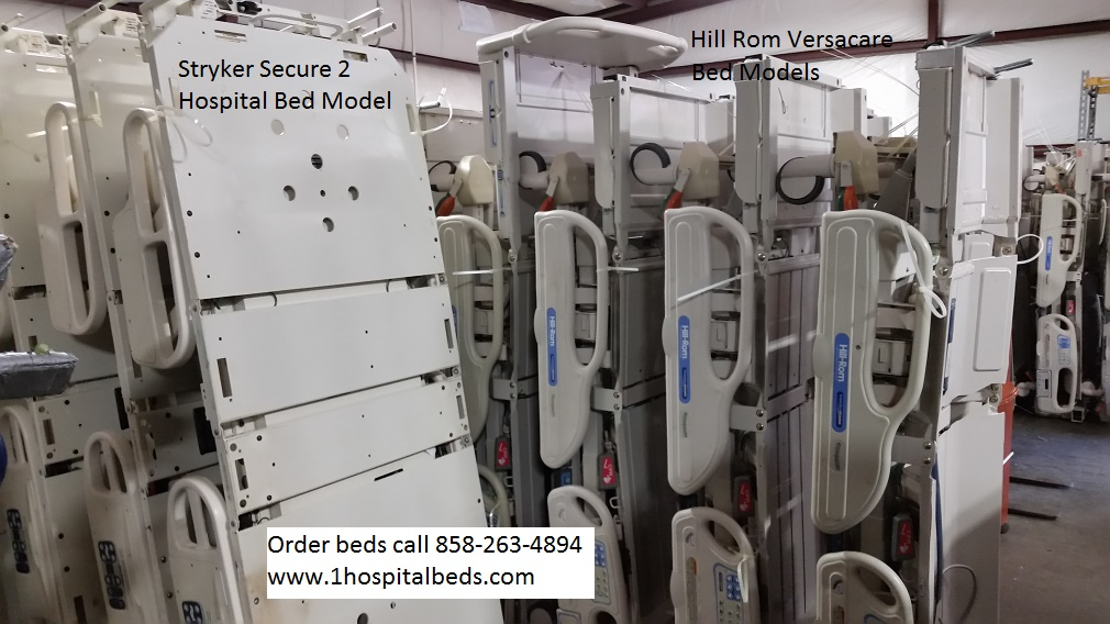 Stryker Secure 2 hospital beds and Hill Rom Verscare beds at wholesale prices