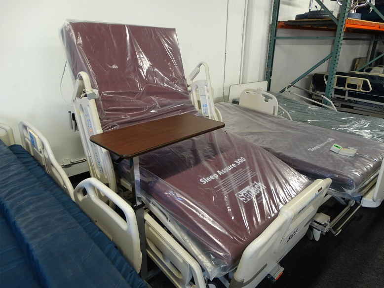 "Hill Rom P1600 Advanta hospital bed in ""chair position"" popular wholesale bed for sale"