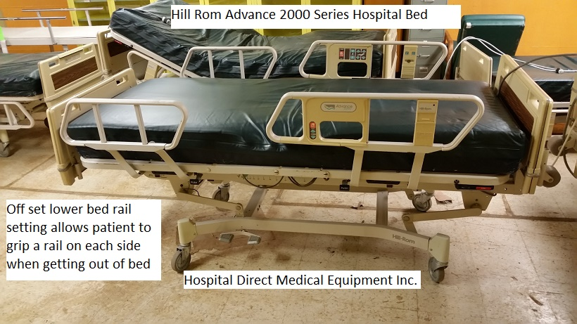Hill Rom Advance 2000 Series Hospital Bed with Air Mattress